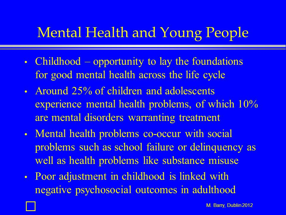 Mental Health and Young People