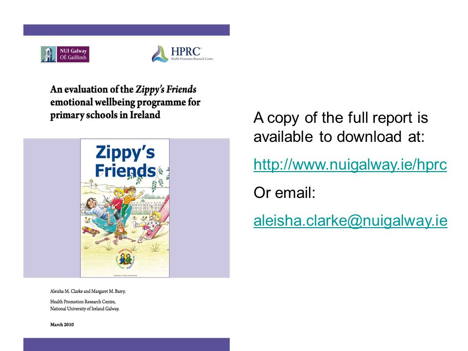 A copy of the full report is available to download at:
