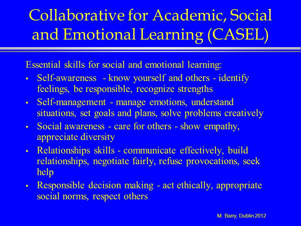 Collaborative for Academic, Social and Emotional Learning (CASEL)