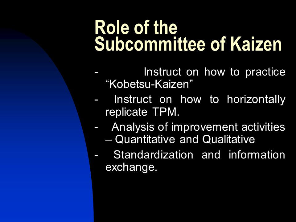 Role of the Subcommittee of Kaizen
