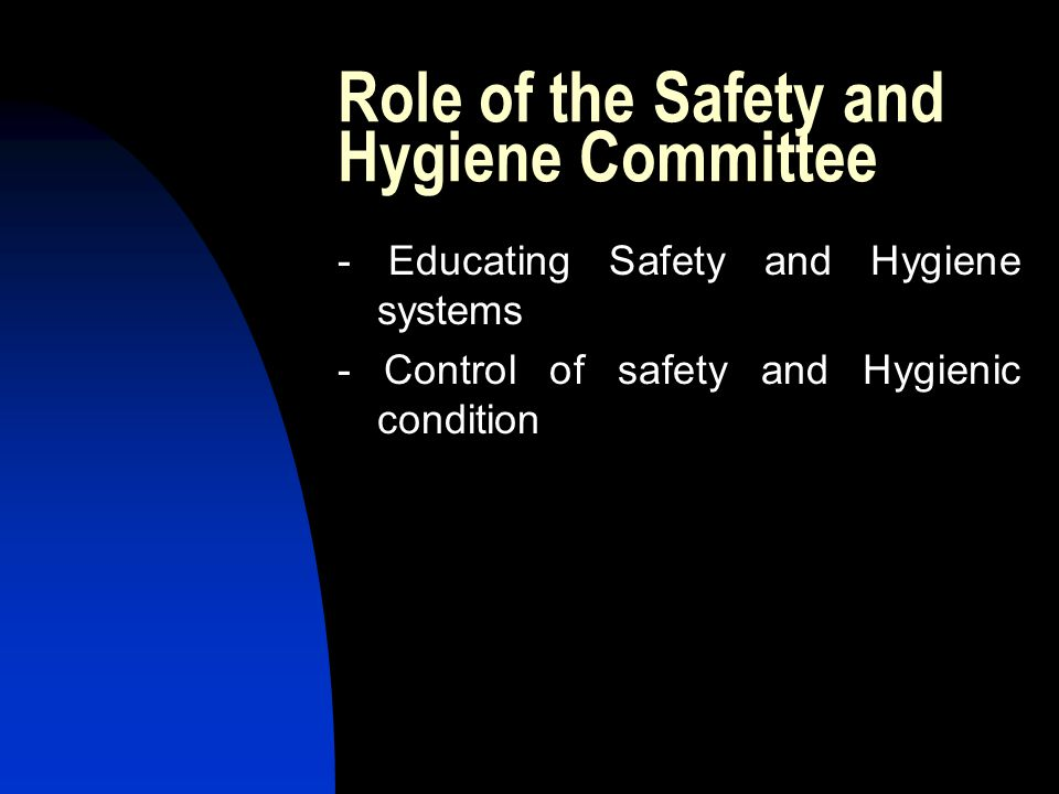 Role of the Safety and Hygiene Committee
