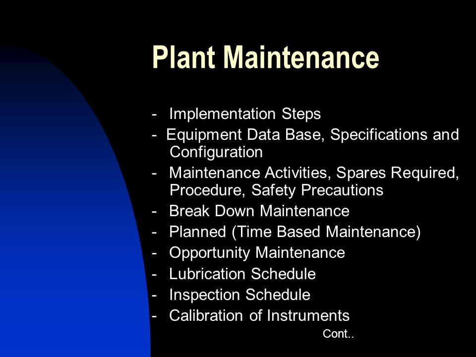Plant Maintenance - Implementation Steps