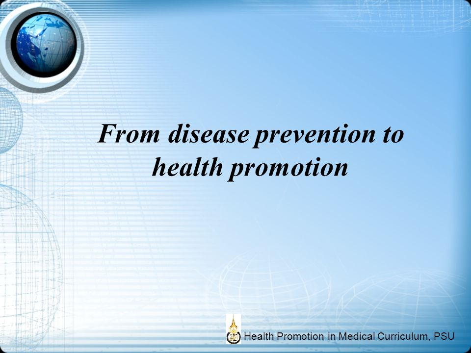 From disease prevention to