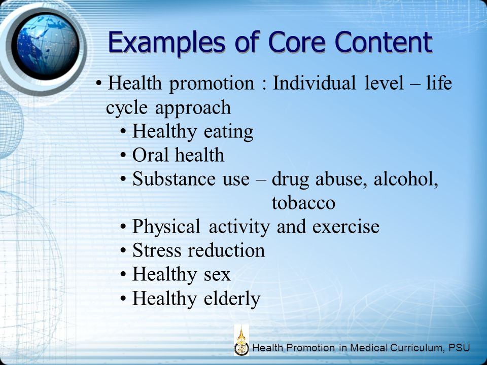 Examples of Core Content