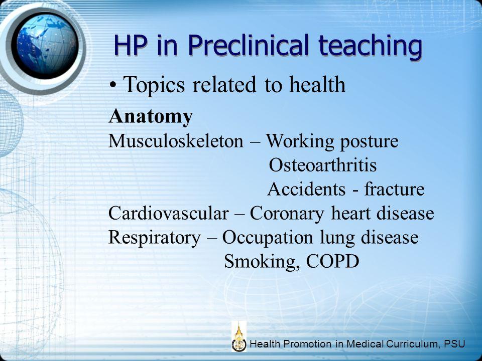 HP in Preclinical teaching