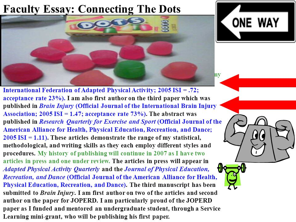 Faculty Essay: Connecting The Dots