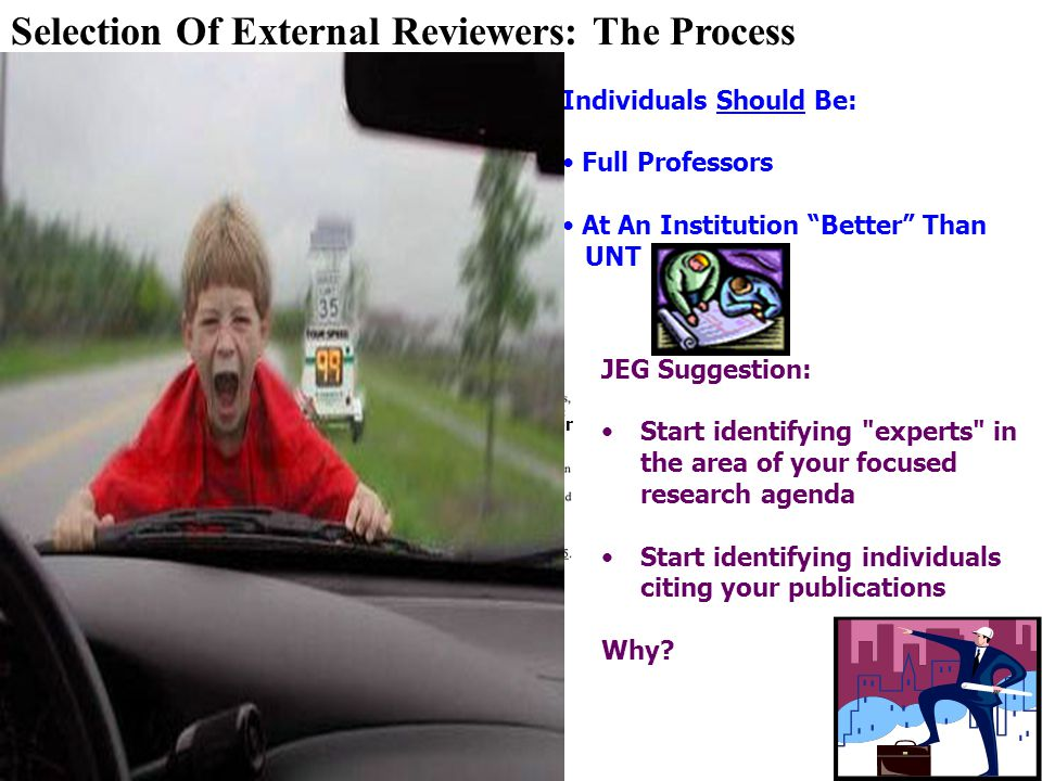 Selection Of External Reviewers: The Process
