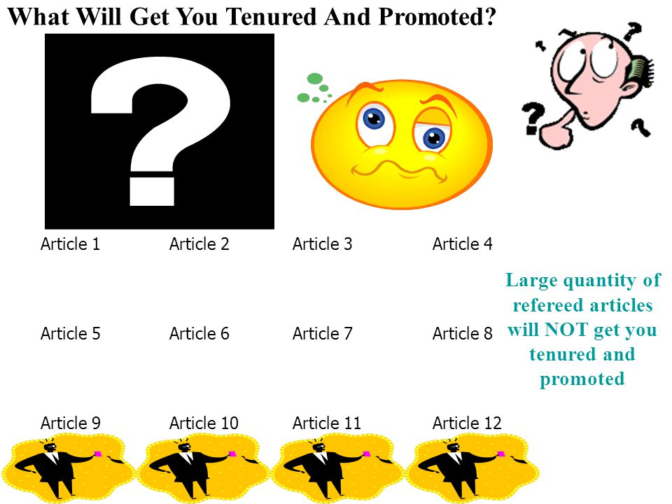 refereed articles will NOT get you tenured and promoted