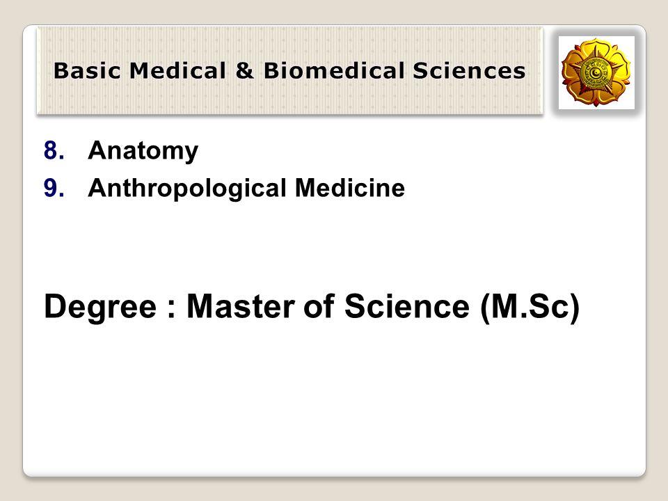Basic Medical & Biomedical Sciences