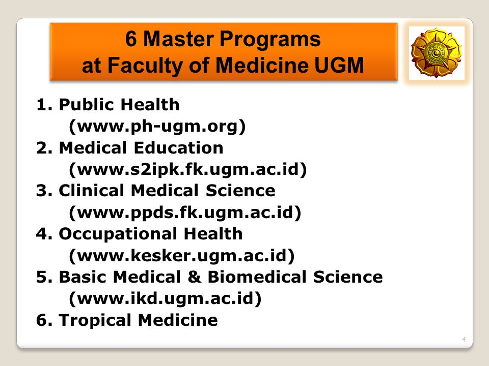 6 Master Programs at Faculty of Medicine UGM