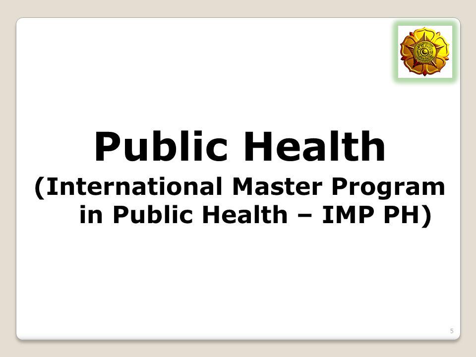 (International Master Program in Public Health – IMP PH)