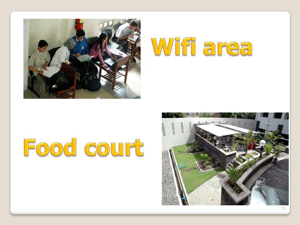 Wifi area Food court
