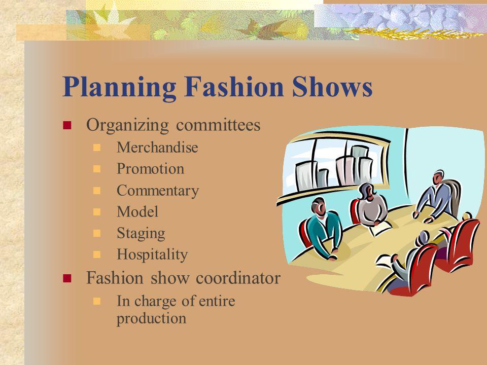 Planning Fashion Shows