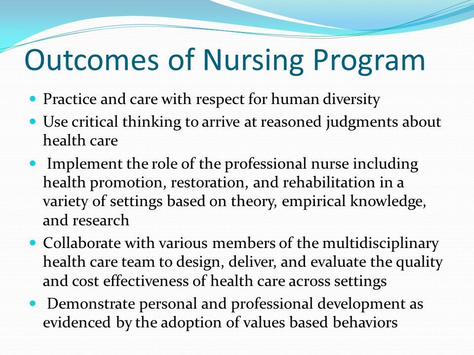 Outcomes of Nursing Program