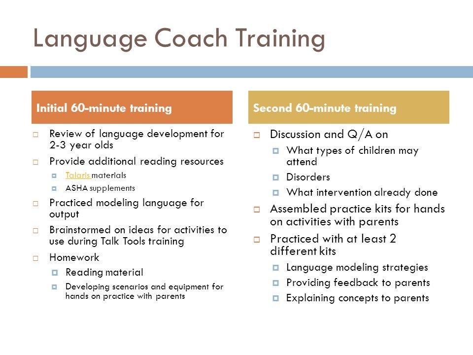 Language Coach Training