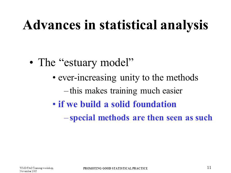 Advances in statistical analysis