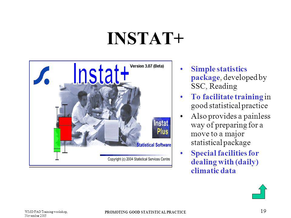 PROMOTING GOOD STATISTICAL PRACTICE