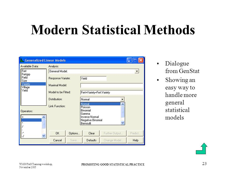 Modern Statistical Methods