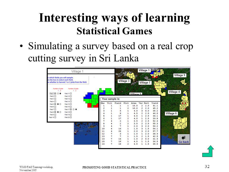Interesting ways of learning Statistical Games