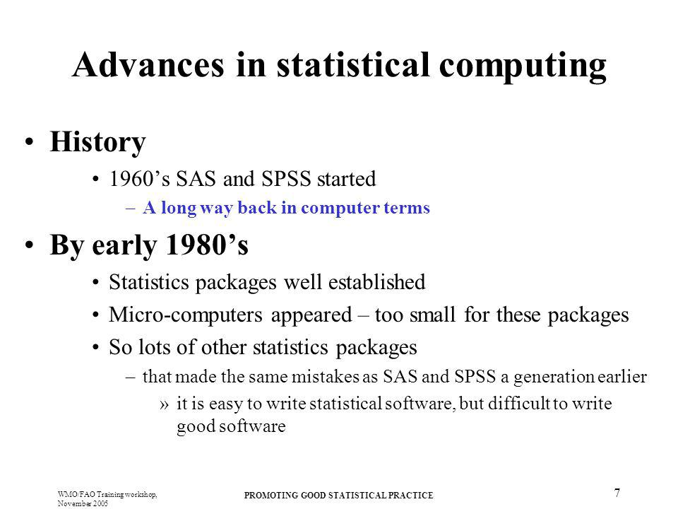 Advances in statistical computing
