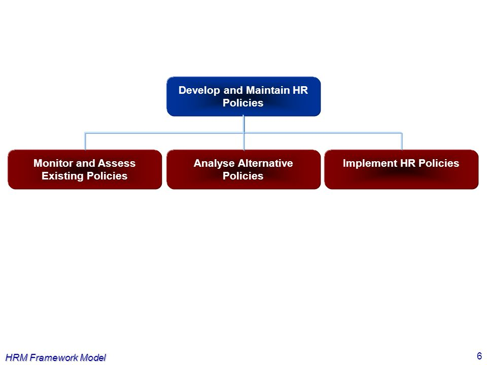 Develop and Maintain HR Policies