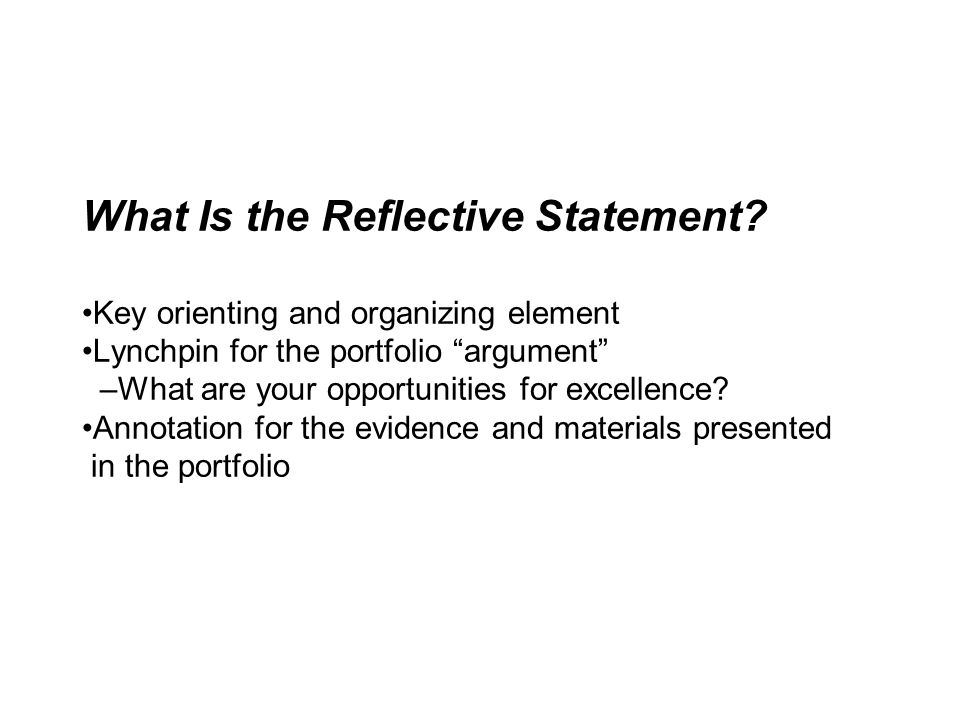 What Is the Reflective Statement