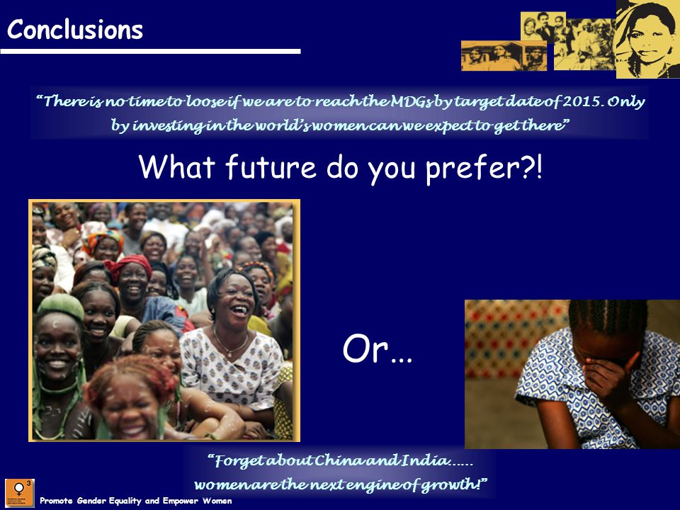 Or… What future do you prefer ! Conclusions
