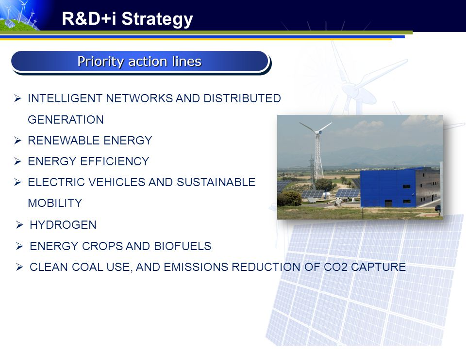 R&D+i Strategy Priority action lines
