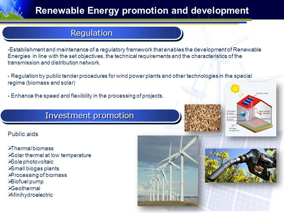 Renewable Energy promotion and development