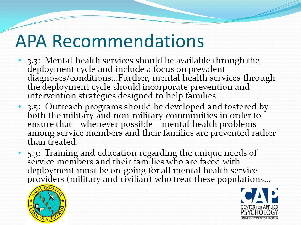 APA Recommendations