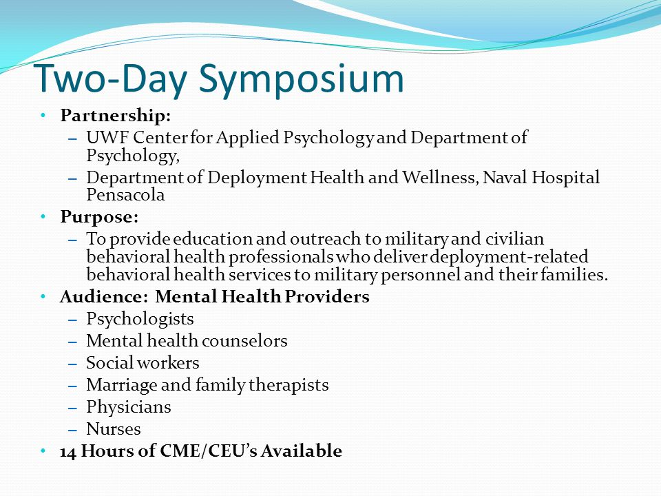 Two-Day Symposium Partnership: