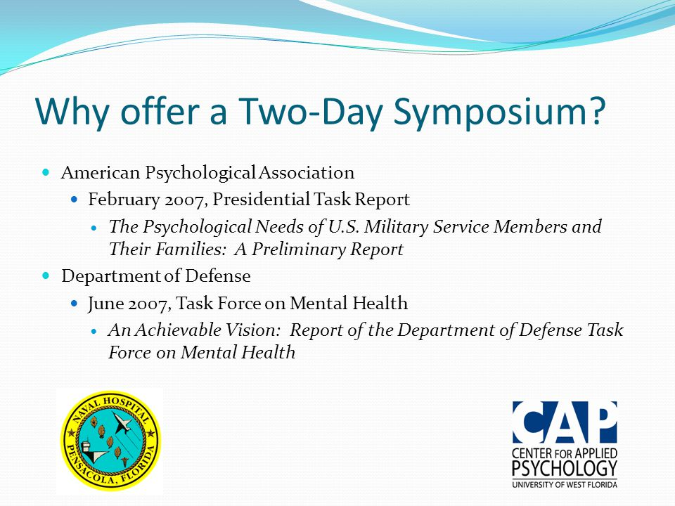 Why offer a Two-Day Symposium