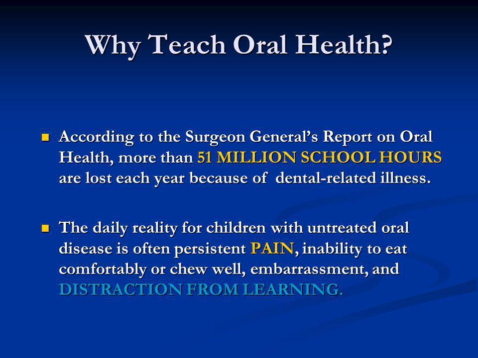 Why Teach Oral Health