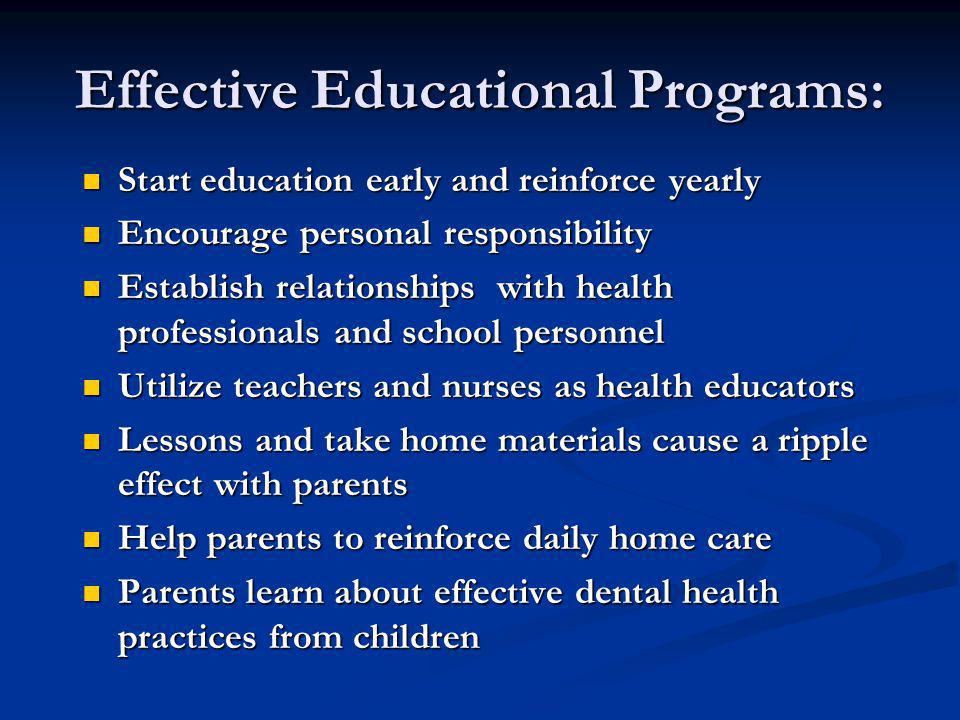Effective Educational Programs: