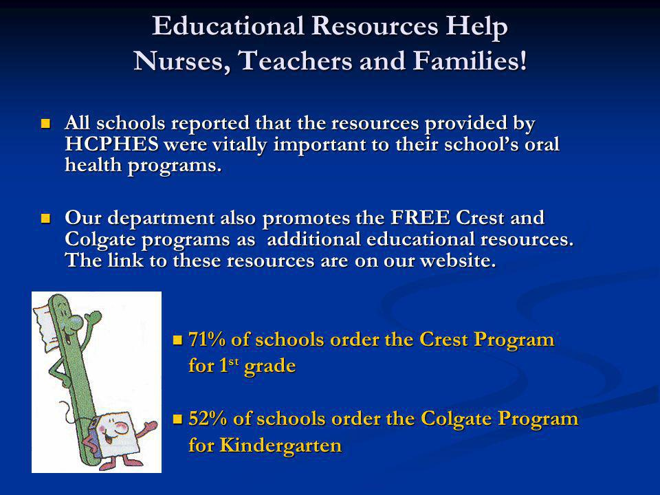 Educational Resources Help Nurses, Teachers and Families!