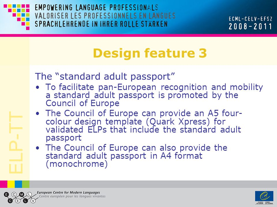Design feature 3 The standard adult passport