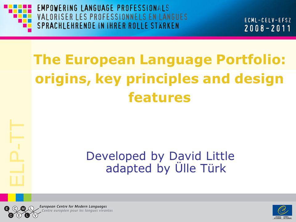 Developed by David Little adapted by Ülle Türk