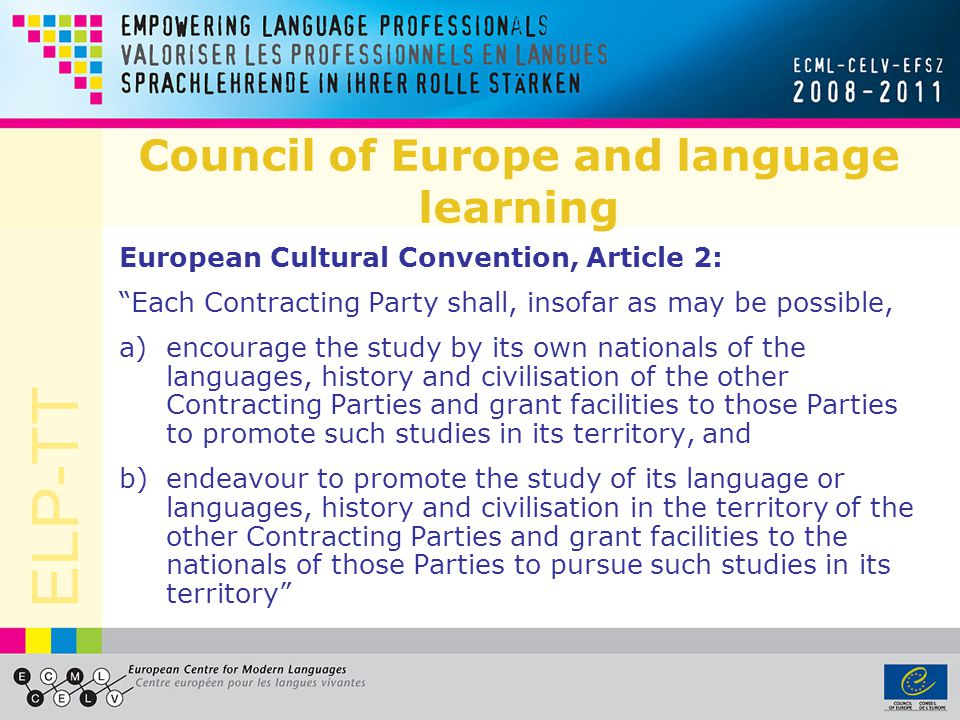 Council of Europe and language learning