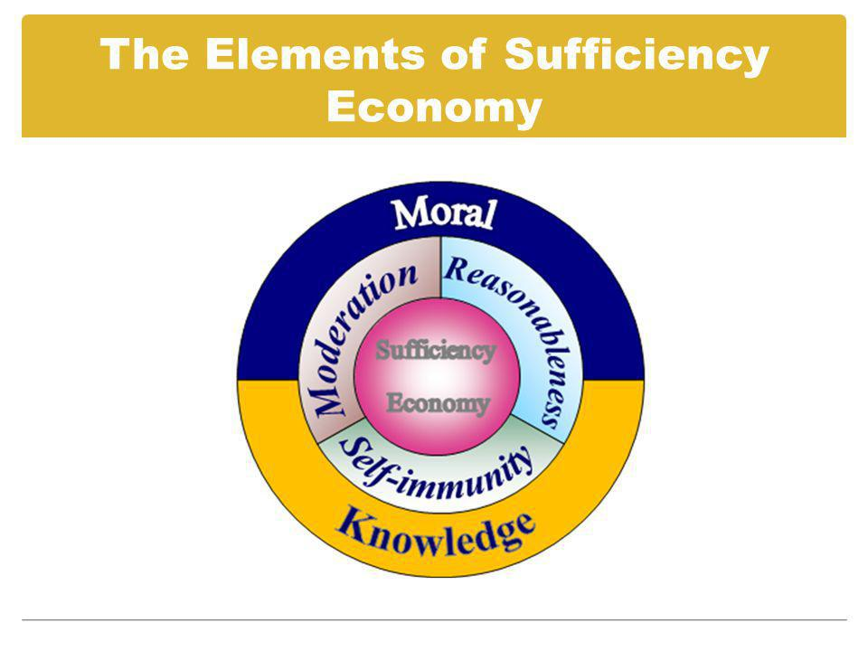 The Elements of Sufficiency Economy