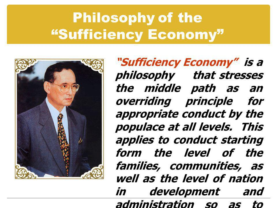 Sufficiency Economy