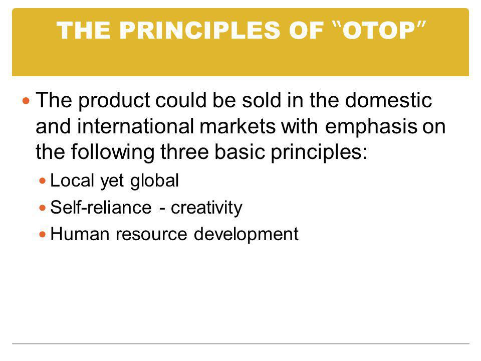 THE PRINCIPLES OF OTOP