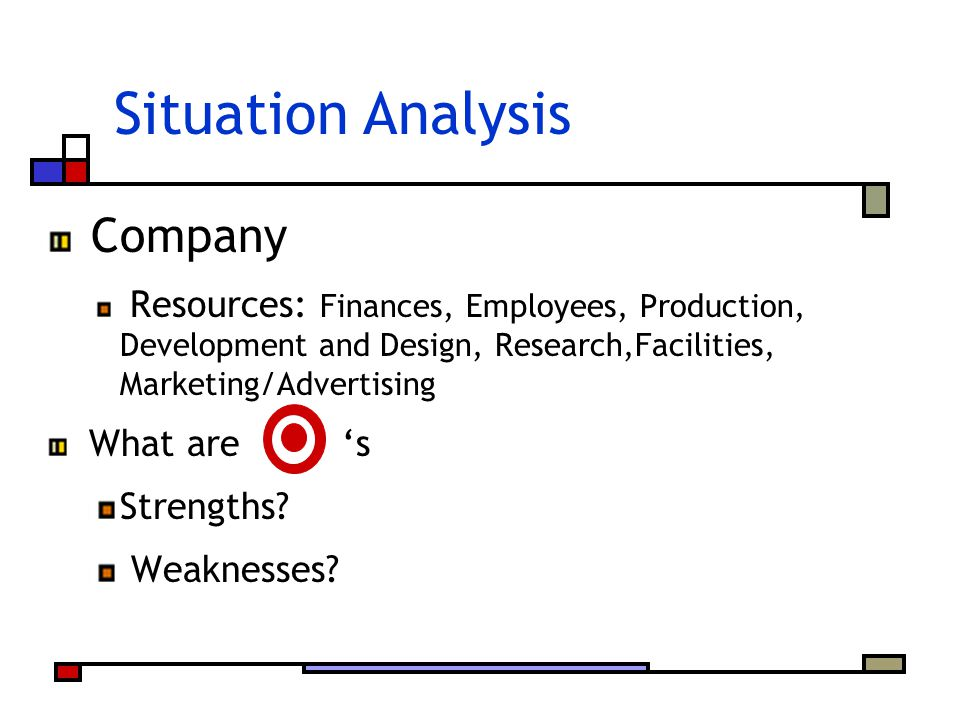 Situation Analysis Company What are 's Strengths Weaknesses