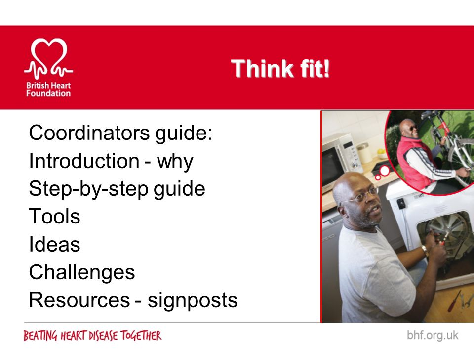 Think fit! Coordinators guide: Introduction - why Step-by-step guide