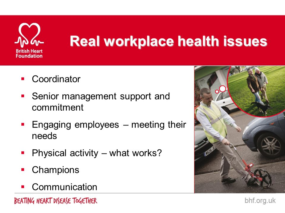 Real workplace health issues