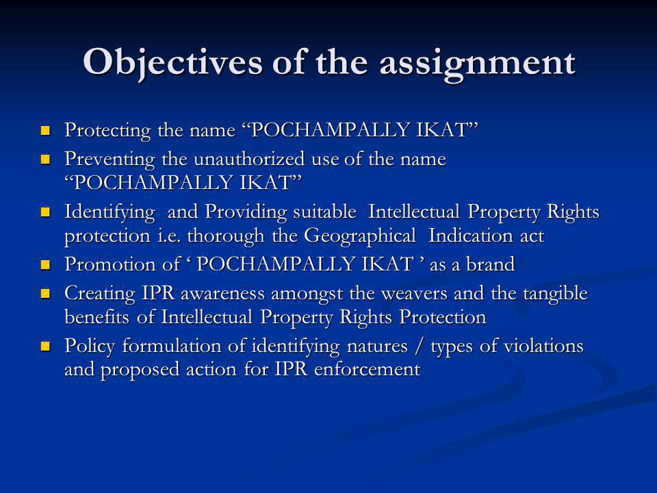 Objectives of the assignment