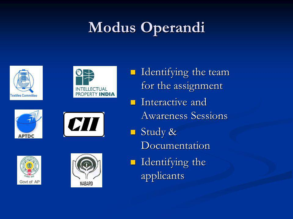 Modus Operandi Identifying the team for the assignment
