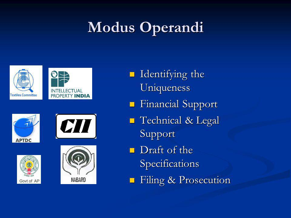 Modus Operandi Identifying the Uniqueness Financial Support