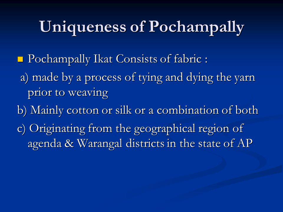 Uniqueness of Pochampally