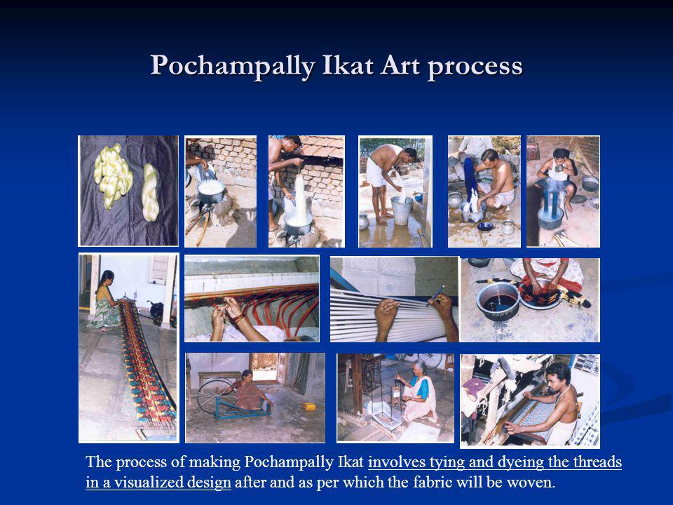 Pochampally Ikat Art process