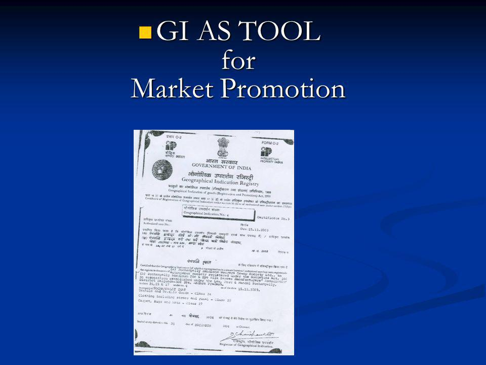 GI AS TOOL for Market Promotion
